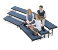 """Tapered Carpeted Standing Riser - 66""""W x 18""""D x 16""""H, 80022"""