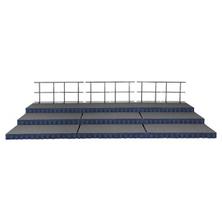 Portable Stage with Risers - 12'W x 24'D, 80368