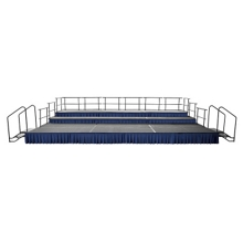 Portable Stage with Risers - 16'W x 24'D, 80372