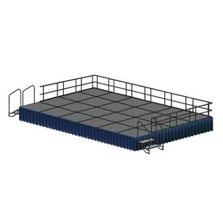 Portable Stage Set - 24'W x 24'D, 80374