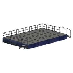 Portable Adjustable Height Stage Set - 16'W x 28'D, 80381