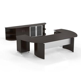 U Shaped Desks Shop Wrap Around Desks With Desk Hutch