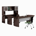 "Curved Right Executive U-Desk with Hutch - 108""W, 14469"
