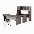 "Curved Left Executive U-Desk with Hutch - 108""W, 14470"
