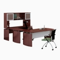 "Curved Right U-Desk with Hutch - 108""W, 14421"