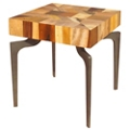 "Wood Side Table - 20""W, 46224"