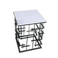 """Marble Top Side Table - 17.5""""W, 46229"""