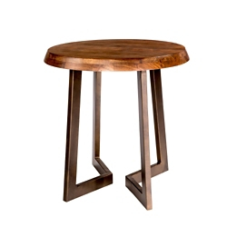 """Solid Wood Top Oval Side Table - 24""""W, 46237"""