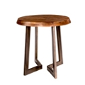 "Solid Wood Top Oval Side Table - 24""W, 46237"