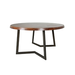 """Solid Wood Top Oval Coffee Table - 54""""W , 46238"""