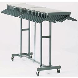Folding Coat Rack on Casters, 90160