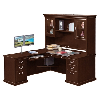 "L-Desk with Left Return and Hutch - 69""W, 10154"