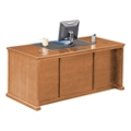 "Wheat Oak Double Pedestal Desk - 68.25""W, 10159"
