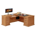 "Wheat Oak L-Desk with Left Return - 68""W, 10160"