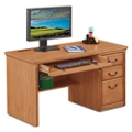 "Wheat Oak Single Pedestal Desk - 55.5""W, 10162"