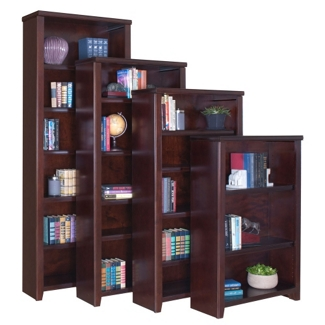 "Cherry 70"" Open Bookcase, 32928"