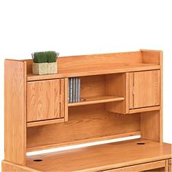 "Medium Oak Two Door Hutch - 67""W, 10915"