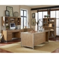 Wire-Brushed Office Suite with Steel Accents, 13821