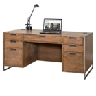 "Wire Brushed Compact Desk - 66""W, 13818"