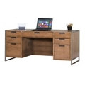"Wire Brushed Credenza with Steel Frame - 66""W x 22""D, 13819"