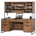 "Wire Brushed Credenza with Hutch - 66""W, 13820"