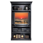 Distressed Black Large Open Bookcase, 15233