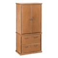 "Wheat Oak Wardrobe with File - 34""W, 31912"