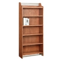 "Six Shelf Bookcase with Metal Accents - 72""H, 32144"