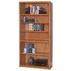 "Medium Oak Six Shelf Bookcase - 70""H, CD06165"