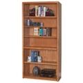 """Medium Oak Six Shelf Bookcase - 70""""H, 32477"""