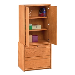 "Medium Oak Wardrobe with File - 34""W, 36699"