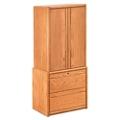 "Medium Oak Wardrobe with File - 34""W, 36699"
