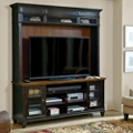 Glass Door TV Stand with Hutch, 43425