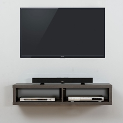 "Shallow Wall Mount TV Component Shelf - 48""W, 91631"