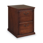 Burnished Oak Two Drawer Vertical File, 34398