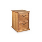 Oak Two Drawer Vertical File, 34396