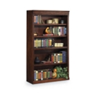 "Burnished Oak 60"" Five Shelf Bookcase, 32725"