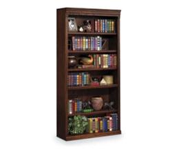"""Burnished Oak 72"""" Six Shelf Bookcase, 32726"""