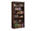 "Burnished Oak 72"" Six Shelf Bookcase, 32726"