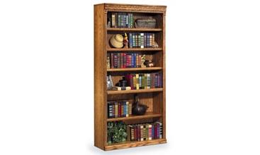 "Wheat Oak 72"" Six Shelf Bookcase, 32722"