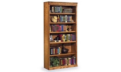 "Wheat Oak 72"" Six Shelf Bookcase, 32722"