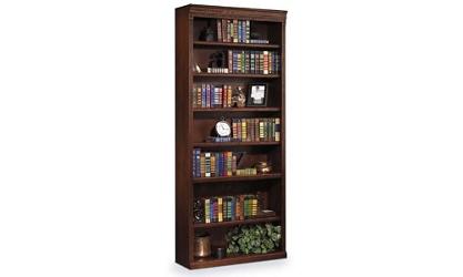 "Burnished Oak 84"" Seven Shelf Bookcase, 32727"