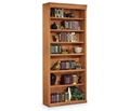 "Wheat Oak 84"" Seven Shelf Bookcase, 32723"