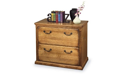 Wheat Oak Two Drawer Lateral File, 30501