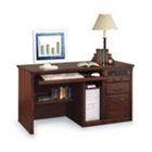 Burnished Oak Deluxe Computer Desk, 15601
