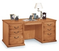 "Wheat Oak 68"" Seven Drawer Desk, 15579"