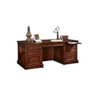 Cobblestone Cherry Veneer Executive Desk, 15513