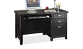 Distressed Finish Compact Single Pedestal Desk, 15488