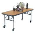 "Standing Height Mobile Folding Buffet Table - 72""W x 30""D, 40005"