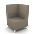 Modern Fabric or Vinyl Corner Chair, 25795
